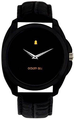 Golden Bell® Analogue Black Dial Men's Watch-GB-201Blk