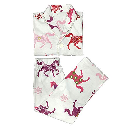 Kasonj pigiama della famiglia, vestiti della famiglia del pigiama della stampa della figlia della madre dell'asino vestiti stabiliti di usura di svago