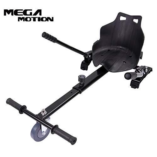 "Mega Motion Hoverkart Sitzscooter Go Kart Kartsitz Elektrokart Hoverseat für Hoverboard Self Balance Scooter 6.5\"", 8\"", 10\"" mit langlebigem PU-Rad Sicherer für Kinder - Alle Altersgruppen (schwarz)"