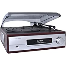 Karcher KA 8050 Plattenspieler mit eingebauten Lautsprechern silber