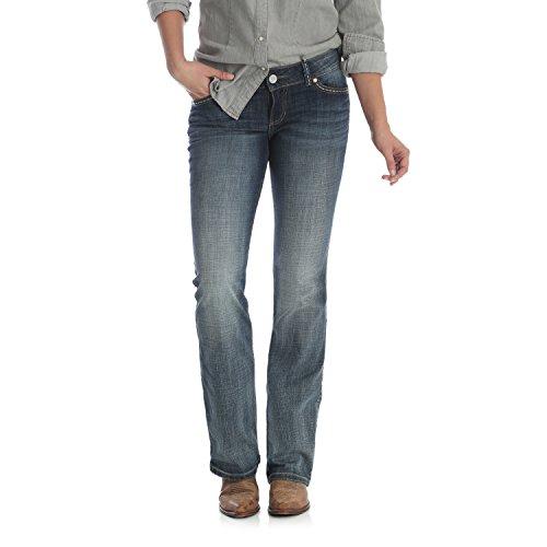 Wrangler Damen Retro Low Rise Bootcut Jeans, Mittelblau, 11W x 34L - Wrangler Low Rise