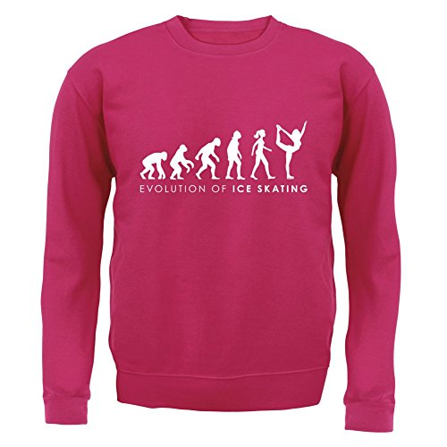 Evolution of Woman - Eislaufen - Kinder Pullover/Sweatshirt - Pink - XXL (12-13 Jahre)