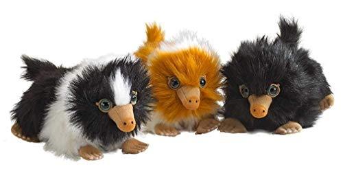 Noble collection - set completo 3 peluche mini baby snaso animali fantastici i crimini di grindelwald niffler 15cm originale warner bros