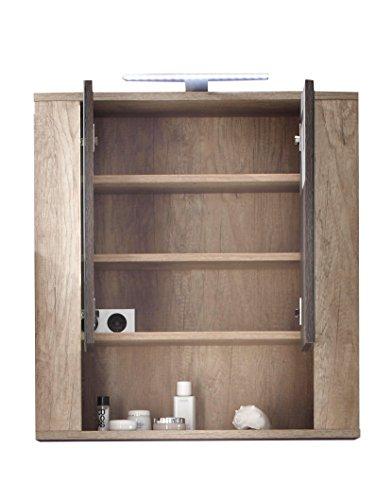 Badspiegelschrank Eiche – 70 cm - 2