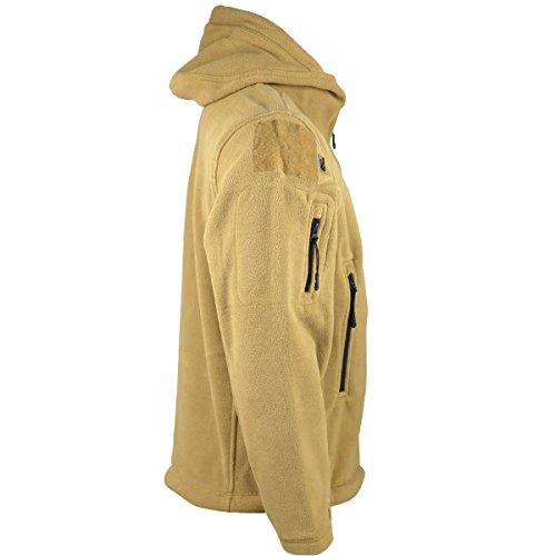 Kombat UK Recon Tactical Fleece Hoodie Beige (Coyote/Tan)