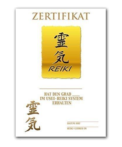 REIKI-URKUNDE, RU7, Urkunde, Spezial-Urkunde, DIN A4, 250 gr. starkes Qualitätspapier, glänzend, 4-farbig