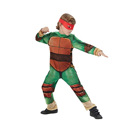 Kinder Ninja Echte Kostüm - Rubie's Teenage Mutant Ninja Turtle (Classic) - Kids Licensed Costume 2015 7 - 8 Years