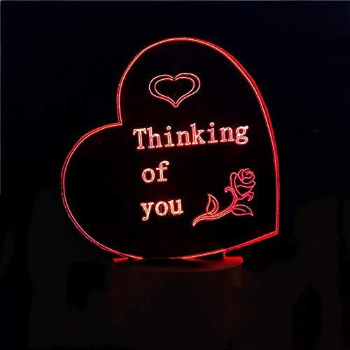 Night Light 3d Romantische Herzschaufel Lampe Lamp Led 7 Color Changing Creative Atmosphere Night Light Home Decor Geben Sie Freundin Valentine Geschenk