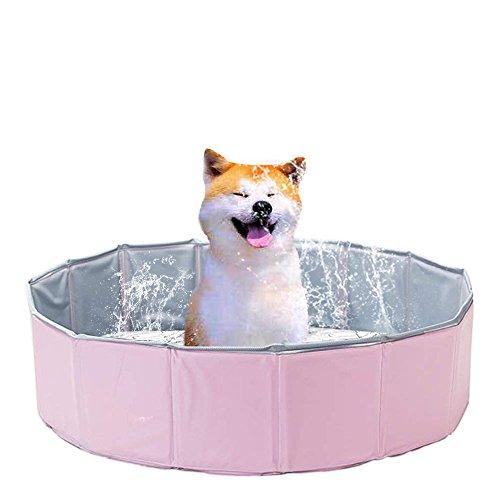 E-harvest Hundepool Tragbar Planschbecken Schwimmbecken für Hunde Katzen Haustiere Badewanne 80cm x20cm (Rosa) -