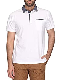STOP by Shoppers Stop Mens Polo Neck Solid T-shirt