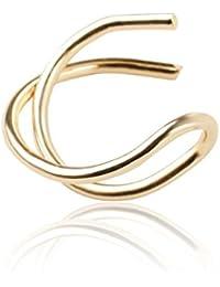 LQZ 1 PAIR Girl Zinc Alloy Geometry Ear Cuff Clip On Earring