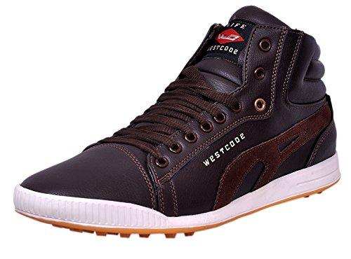 West Code Men Brown Synthetic Sneakers 8