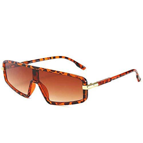 FIRM-CASE Platz Siamese Sonnenbrille Männer Frauen große Feld-Sun-Glas-Gradient Lens Brille Goggle, 3