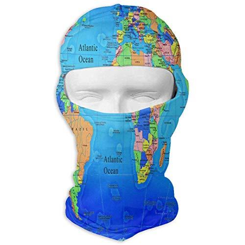 keiwiornb Balaclava Windproof Ski Mask-Balaclava World Map Consultation Services Full Face Masks Ski Sports Cap Motorcycle Hood For Cycling Sports Hiking (Puerto World Rico Classic Hat)