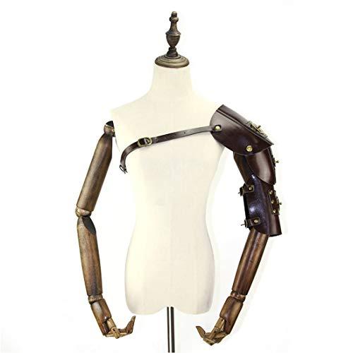 mpunk Retro Leder Rüstung mit Schulter Armors Schnallen Kostüm Dress-up Halloween Cosplay Requisiten (Color : Style2) ()