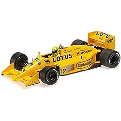 Minichamps 540874312Auto Modelo, 1987Lotus Honda 99T Ayrton Senna, Escala 1: 43