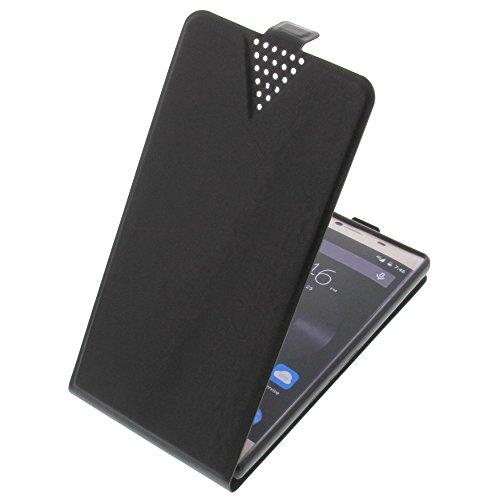 foto-kontor Tasche für Elephone M2 Flip Style Ultra-dünn Schutz Hülle Schwarz