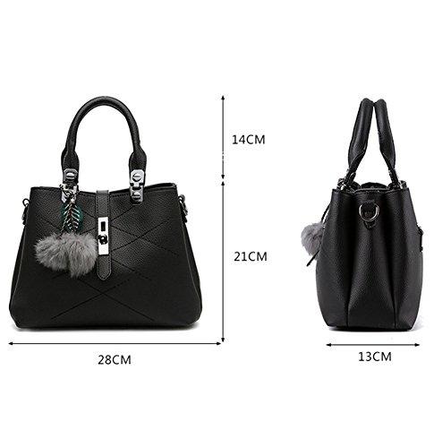 Frauen Vintage Handtaschen Schulter Beutel Reißverschluss Messenger Hobo Bag Rot