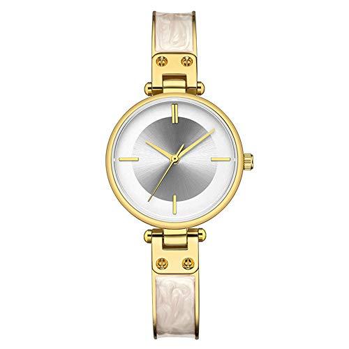 Liandd Mode Frauen Uhren top-Marke Damen mädchen Armbanduhr Edelstahl Armband Klassische beiläufige weibliche Uhr,Gold White
