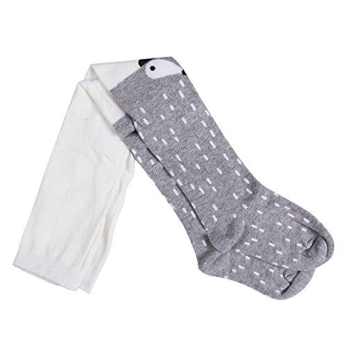 chen Baumwoll Fuchs Gedruckt Strumpfhosen Warm Krabbelstrumpfhose Socken Leggings Strumpf (S/1-2 Jahre, Grau) ()