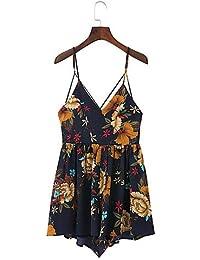 ZLL Trapèze Robe Femme SortieCouleur Pleine Col en V Mi-long Sans Manches Coton Eté Taille Haute Micro-élastique Fin , l