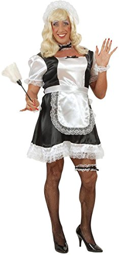 Französisch Maid für Männer - Drag Queens - Adult Kostüm - (Mann Kasten Kostüm)