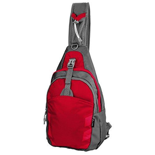 Rot Satchel Tasche (Sling Bag Chest Shoulder Unbalance Gym Fanny Backpack Sack Satchel Outdoor Bike)
