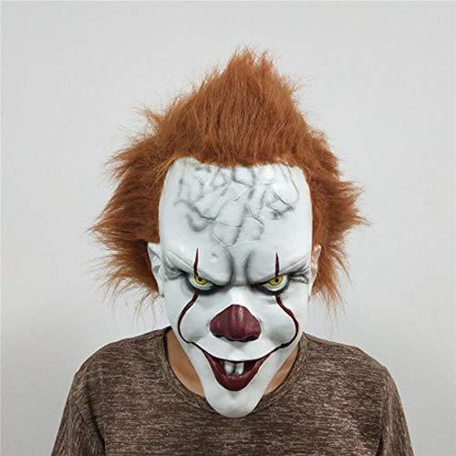FWwD Halloween Maske, Zurück zur Nacht Thema Maske Latex Clown Kopfbedeckung Halloween Explosion Maske Clown - Guten Rave Kostüm Jungs