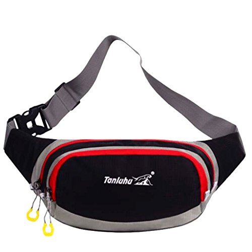Generic Unisex Waterproof Sport Fanny Pack Waist Bum Bag Fitness Running Jogging Belt Chest Pouch