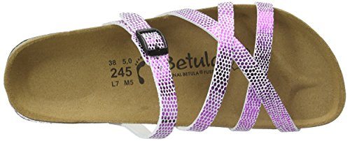 Betula Stripes Cross Buckle, Ciabatte Donna Rosa (Pink (Bf Snake Metal Pink))