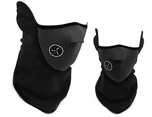 ForNeat Ski Maske dicken Gesichtsmaske Motorrad Halswärmer oder taktische Balaclava Hood Fleece-Gesichtsmaske (Gesichtsmaske Schwarz)
