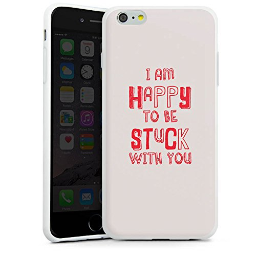 Apple iPhone X Silikon Hülle Case Schutzhülle Sprüche Liebe Freundschaft Silikon Case weiß