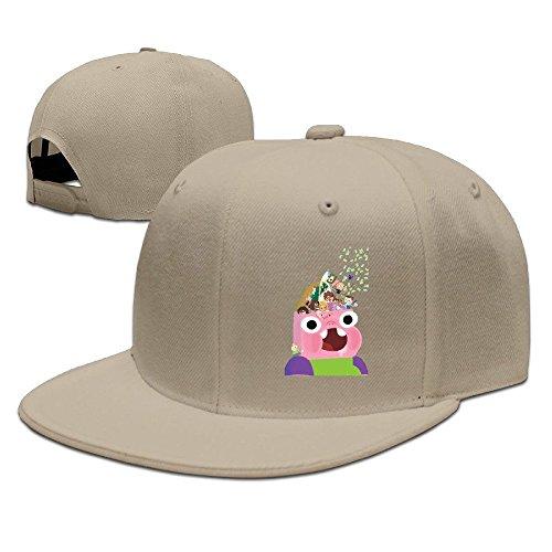 Bai Xue Creative Clarence Logo Baseball Cap Hat, Herren, natur -