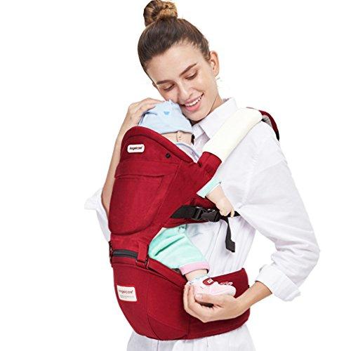 Preisvergleich Produktbild Angelcare Baby Carrier/ergonomische Tragesitz/Rucksack 4in 1tragen Möglichkeiten Carrier/geeignet für 3–36Monate/Taille Gürtel Ergonomische Tragetuch Rucksack (rot)