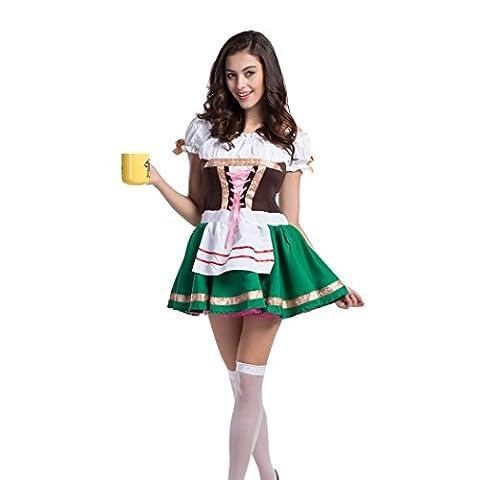 Deutsch Bier Oktoberfest Kellnerin Mädchen-Maiden Halloween Kostüm (Kellnerin Kostüm Kind)