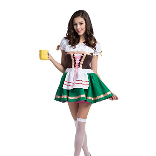 rfest Maiden Kellnerin Wench Halloween Kostüm Gr. XL, Schwarz - Schwarz (Bier Wench Kleid)