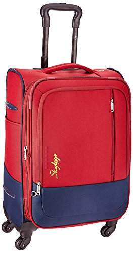 Skybags Romeo Polyester 58 cms Red Softsided Suitcase (STROMW58RED)