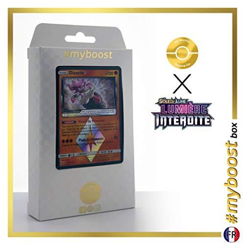 Diancie 74/131 Holo Prisma - #myboost X Soleil & Lune 6 Lumière Interdite - Box de 10 Cartas Pokémon Francés