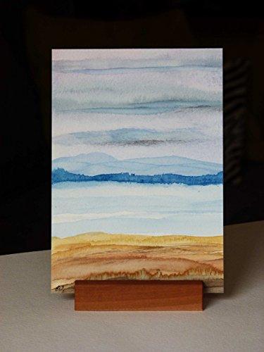 Postkarte + Briefumschlag / Landschaft No 20 / Unikat / Aquarellkarte