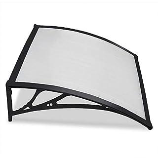 Yaheetech Outdoor Cover Door Window Garden Canopy Patio Porch Awning Rain Shelter (Black)