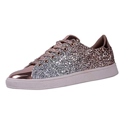 88c1d3f011e5a3 ASHOP Chaussures femme Mode Féminine Paillette Couleur Unie Les Sports  Tendance Sauvage Les Loisirs Chaussures Plates