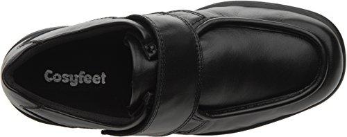 Euro M Extra ger盲umig Schwarz breite Mason Fitting Besonders Cosyfeet UK Leder Roomy Width HH Passform Schuhe qwFBHnzA