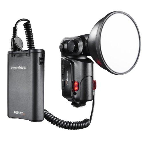 Walimex pro Light Shooter 180 Blitzgerät (180Ws Leistung) inkl. Powerblock II (mobile Batterie 2000mAh) Porta-pack-systemen