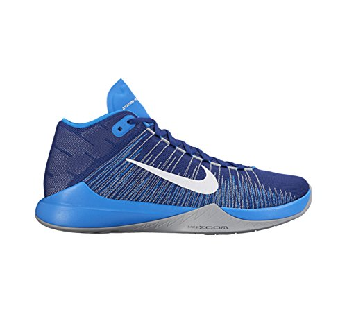 Nike Zoom Ascention, Scarpe da Basket Uomo Azul (Deep Royal Blue / White-Photo Blue)