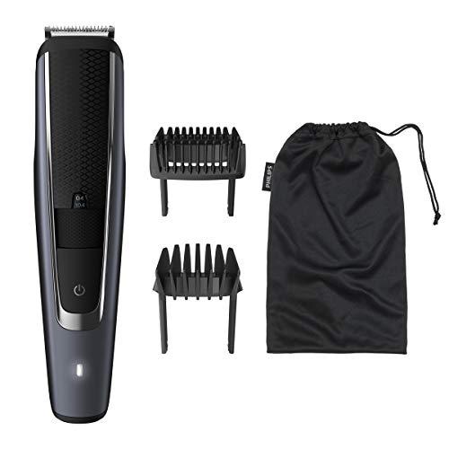 Philips Barbero Serie 5000 BT5502/16 - Recortadora de barba con 40 posiciones de longitud, resistente al agua y cuchillas metálicas autoafilables