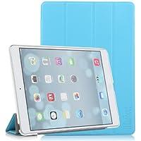 iHarbort® Premium iPad Air Hülle PU Leder Tasche Case Etui Sleeve Smart Cover Schutzhülle Hülle (Blau)