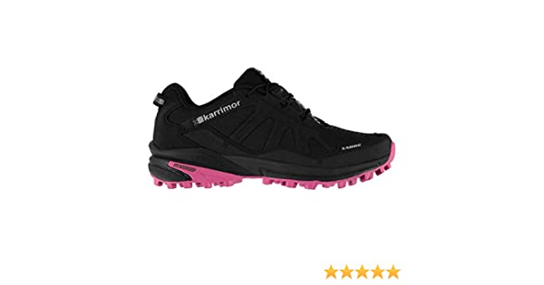 7d0603be48c Karrimor Womens Sabre Trail Running Shoes Textile Padded Ankle Collar  Black Pink UK 8 (42)  Amazon.co.uk  Shoes   Bags
