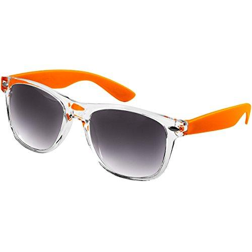 Caspar SG017 Damen RETRO Design Sonnenbrille, Farbe:orange/schwarz getönt