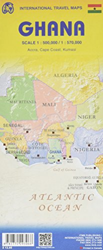 Topographische Karte Ghana 1 : 570.000: A Travellers Reference Map di COLLECTIF
