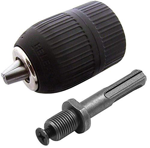BESYZY Schnellspannbohrfutter Akkuwinkelbohrmaschine 2-13mm Bohrfutter Schnellspann mit Adapter und Gewinde